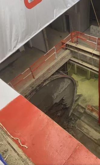ماكينة حفر الانفاق بمترو الكيت كات