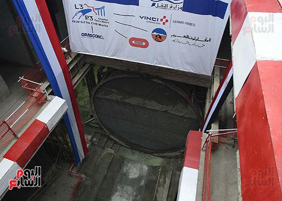 وصول ماكينة الحفر العميق لمحطة الكيت كات (7)