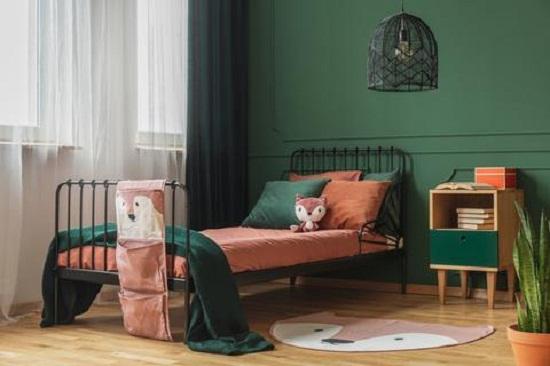 ديكور غرفة الأطفال ..اللون الأخضر