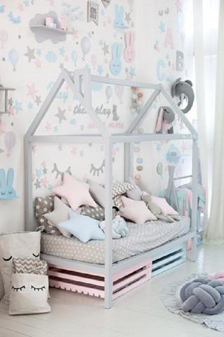 ديكور غرفة الأطفال ..الوان فاتحة