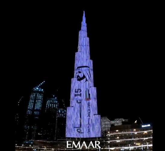 احتفاء برج خليفة بالشيخ محمد بن راشد