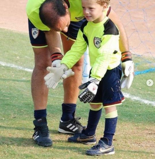 نادر السيد مع ابنه احمد