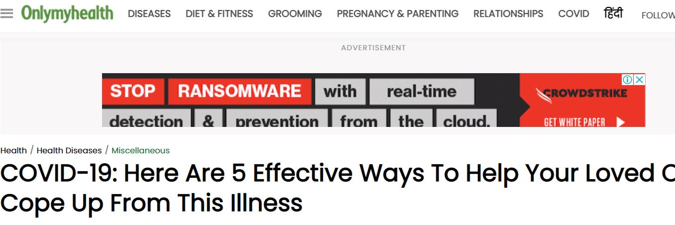 5 وصفات لتخفيف الضغط النفسى على مريض كورونا