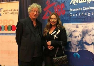 مع المنتج  الراحل نجيب عياد في تونس