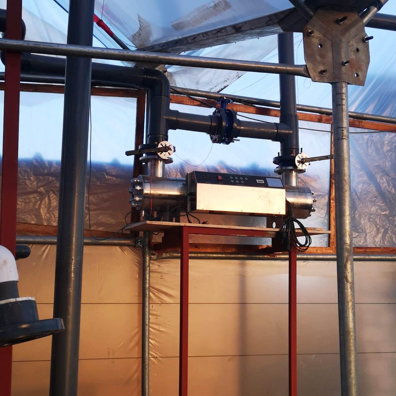 نظام محكم في مزرعة سمكية لإعادة تدوير المياه