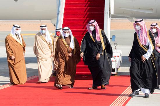 استقبال وفد البحرين
