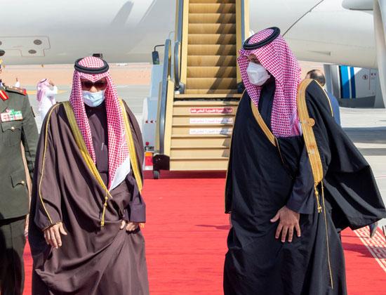استقبال أمير الكويت