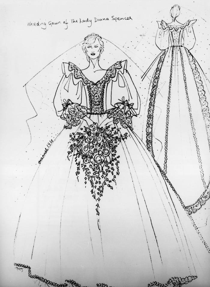 فستان ديانا من تصميم إليزابيث