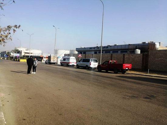 موقع نقل الجثامين من مطار القاهرة (1)