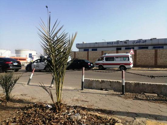 موقع نقل الجثامين من مطار القاهرة (2)