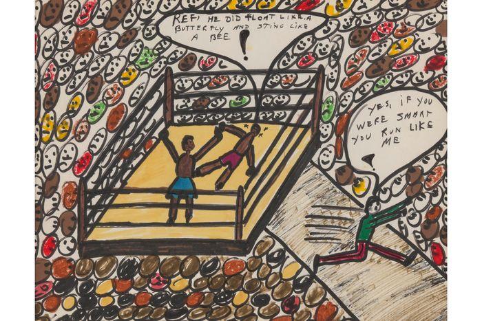 Muhammad Ali's drawings