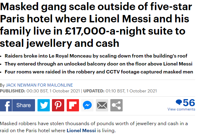 The report from the Daily Mail