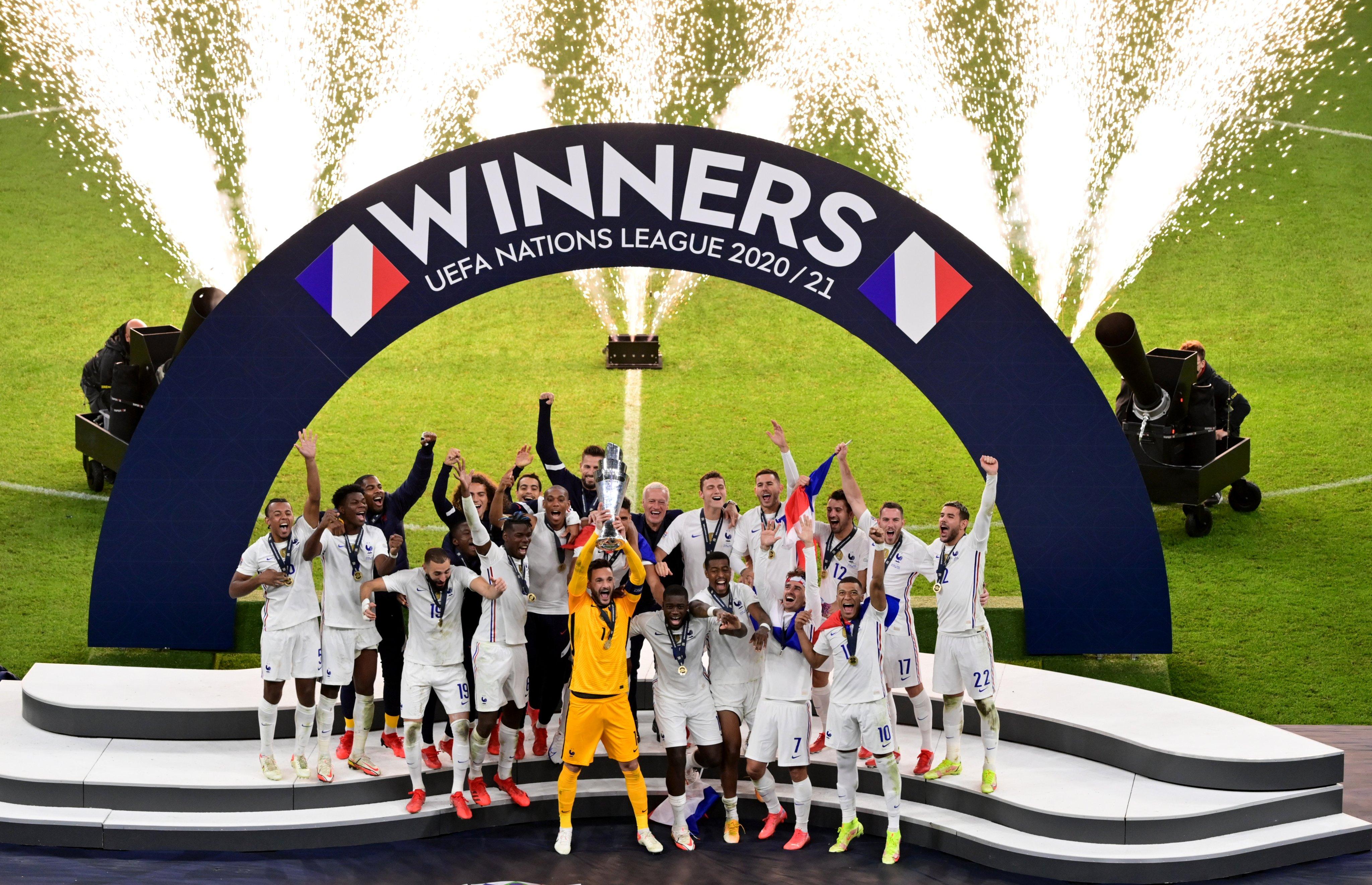تتويج فرنسا بدوري الأمم الأوروبية