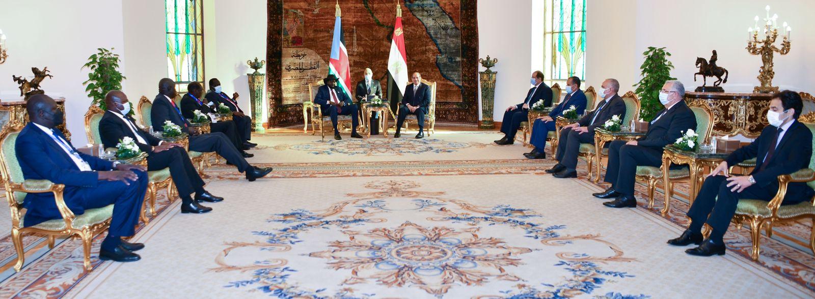 الرئيس السيسى يستقبل نظيره رئيس جنوب السودان  (5)
