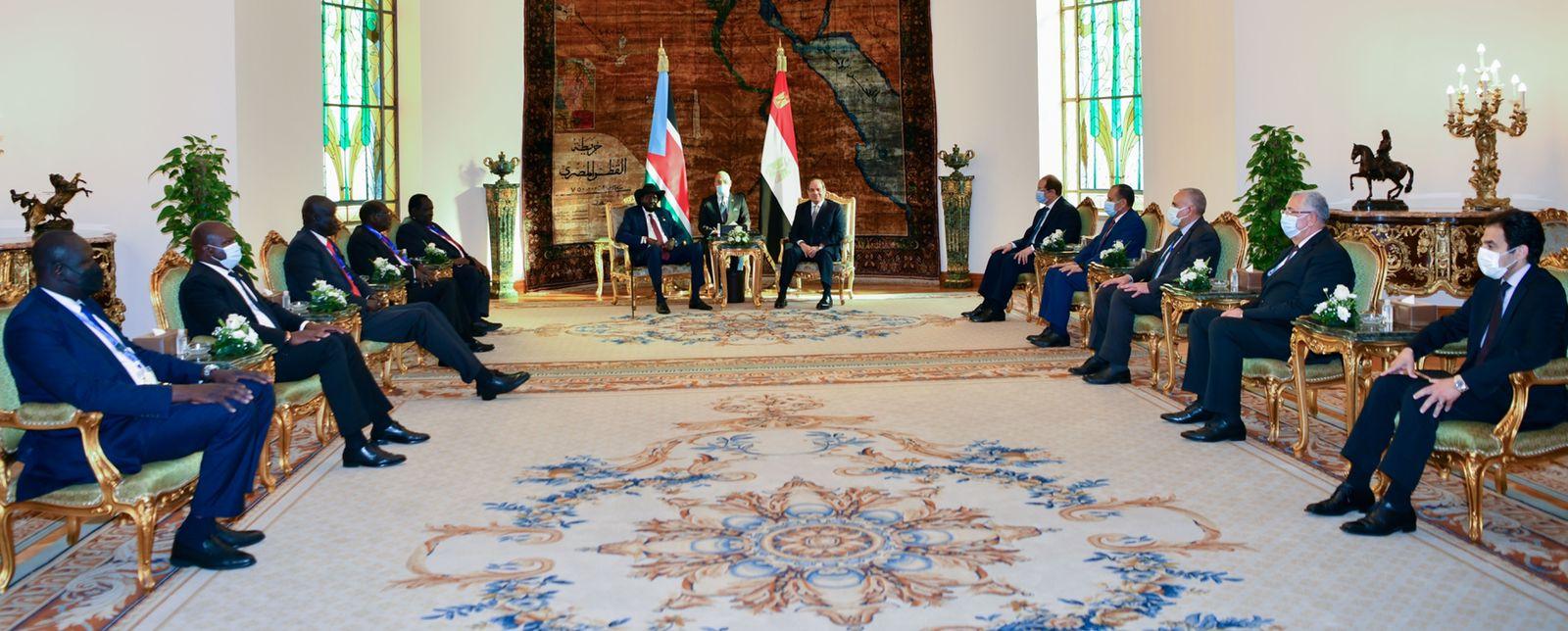 الرئيس السيسى يستقبل نظيره رئيس جنوب السودان  (2)
