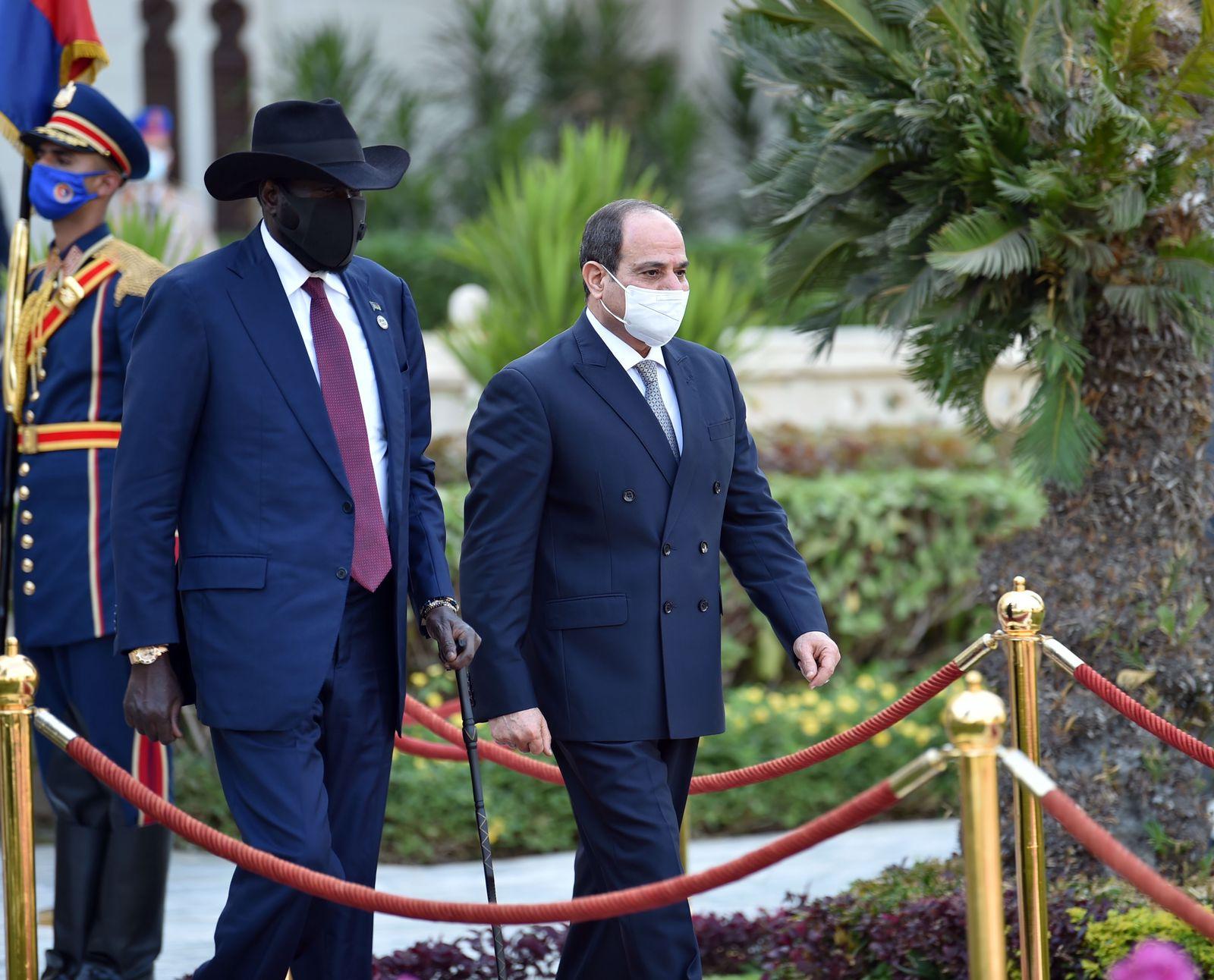 الرئيس السيسى يستقبل نظيره رئيس جنوب السودان  (6)