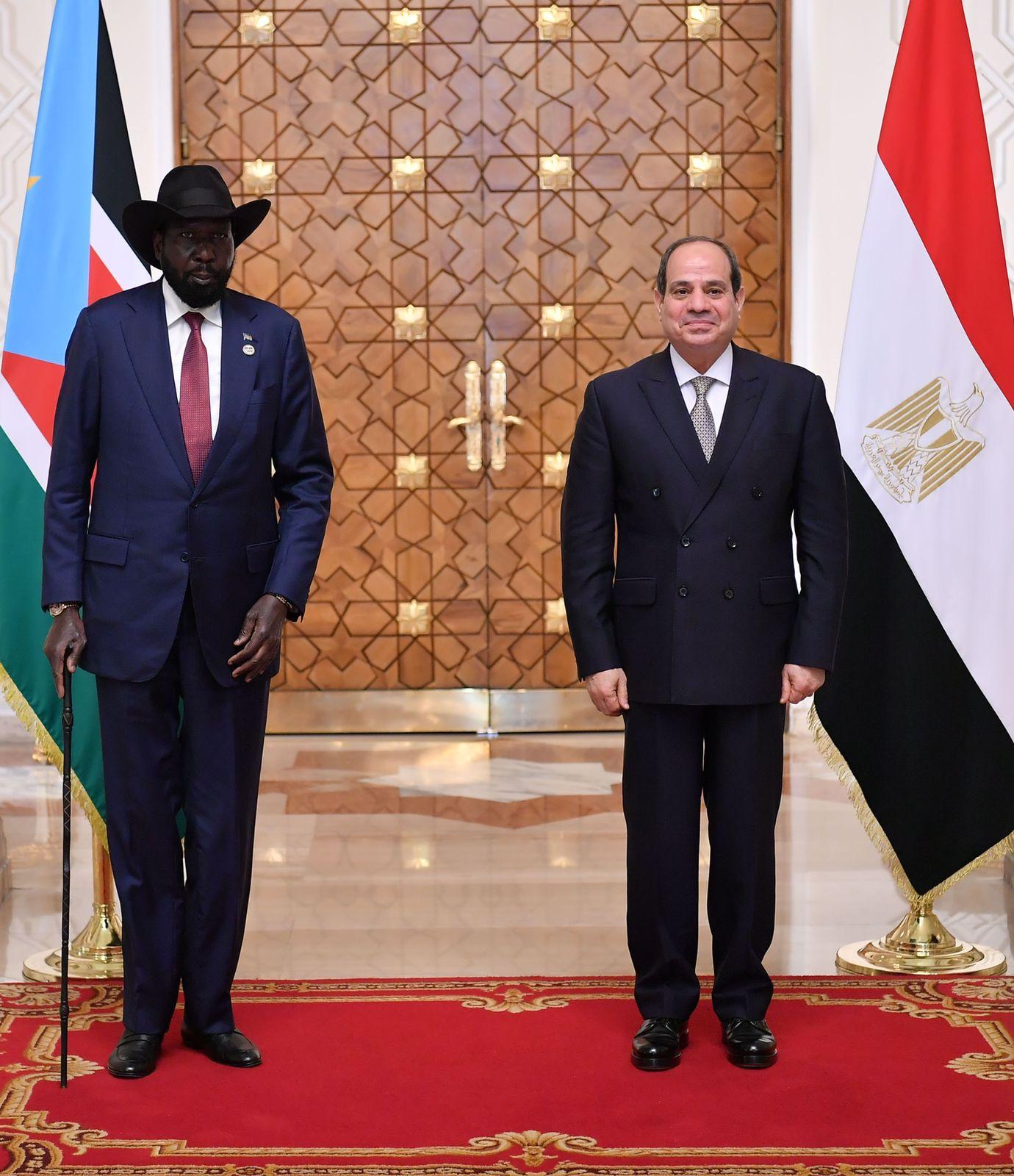 الرئيس السيسى يستقبل نظيره رئيس جنوب السودان  (9)