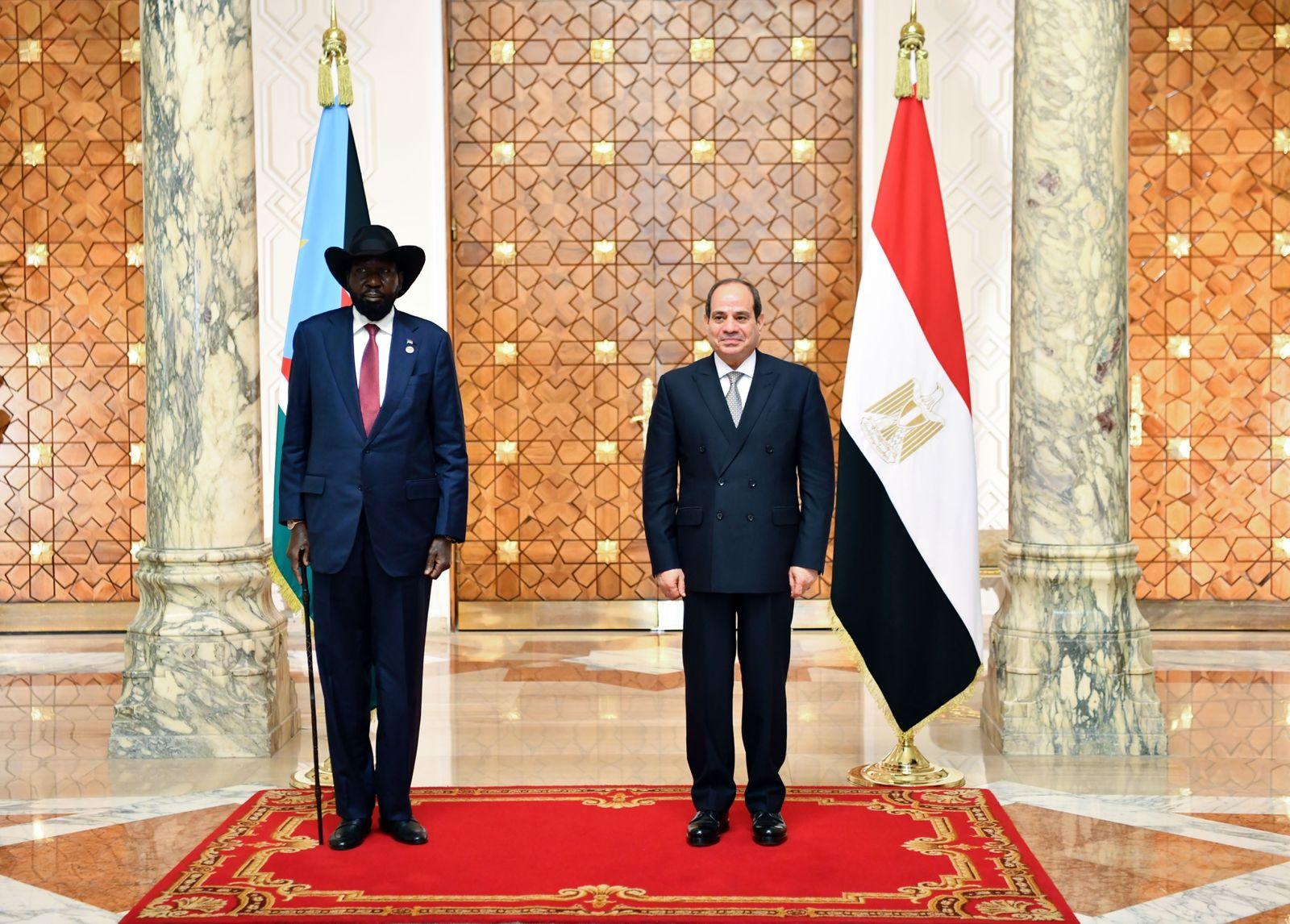 الرئيس السيسى يستقبل نظيره رئيس جنوب السودان  (1)