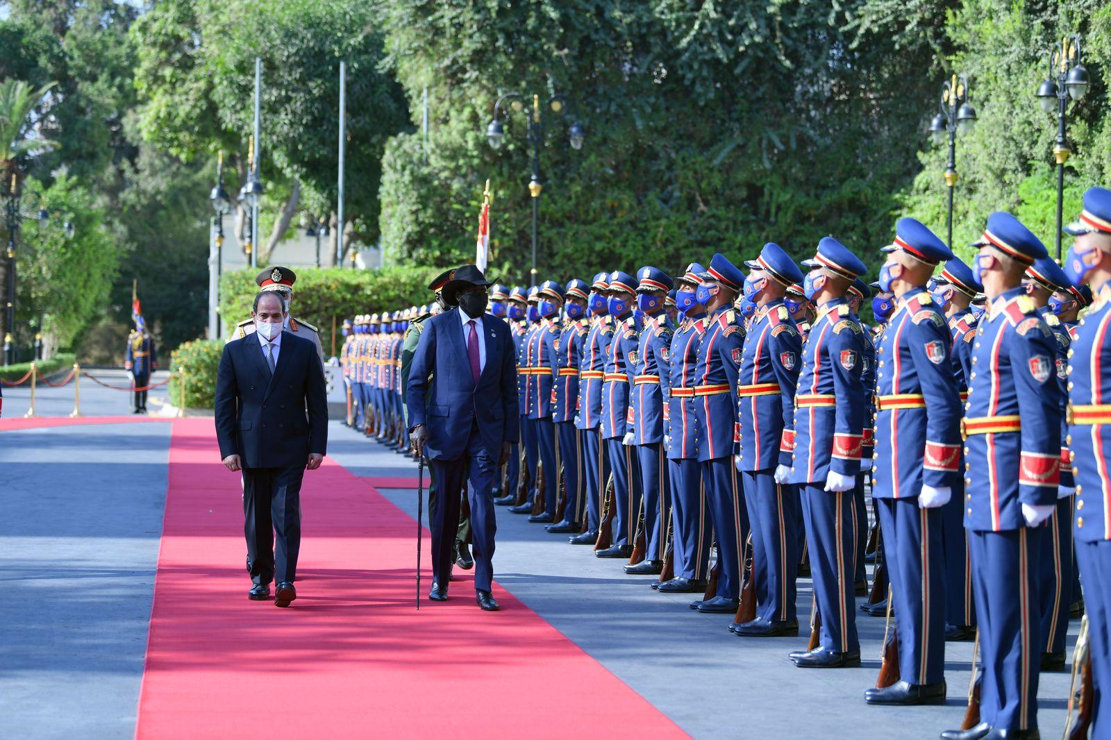 الرئيس السيسى يستقبل نظيره رئيس جنوب السودان  (3)
