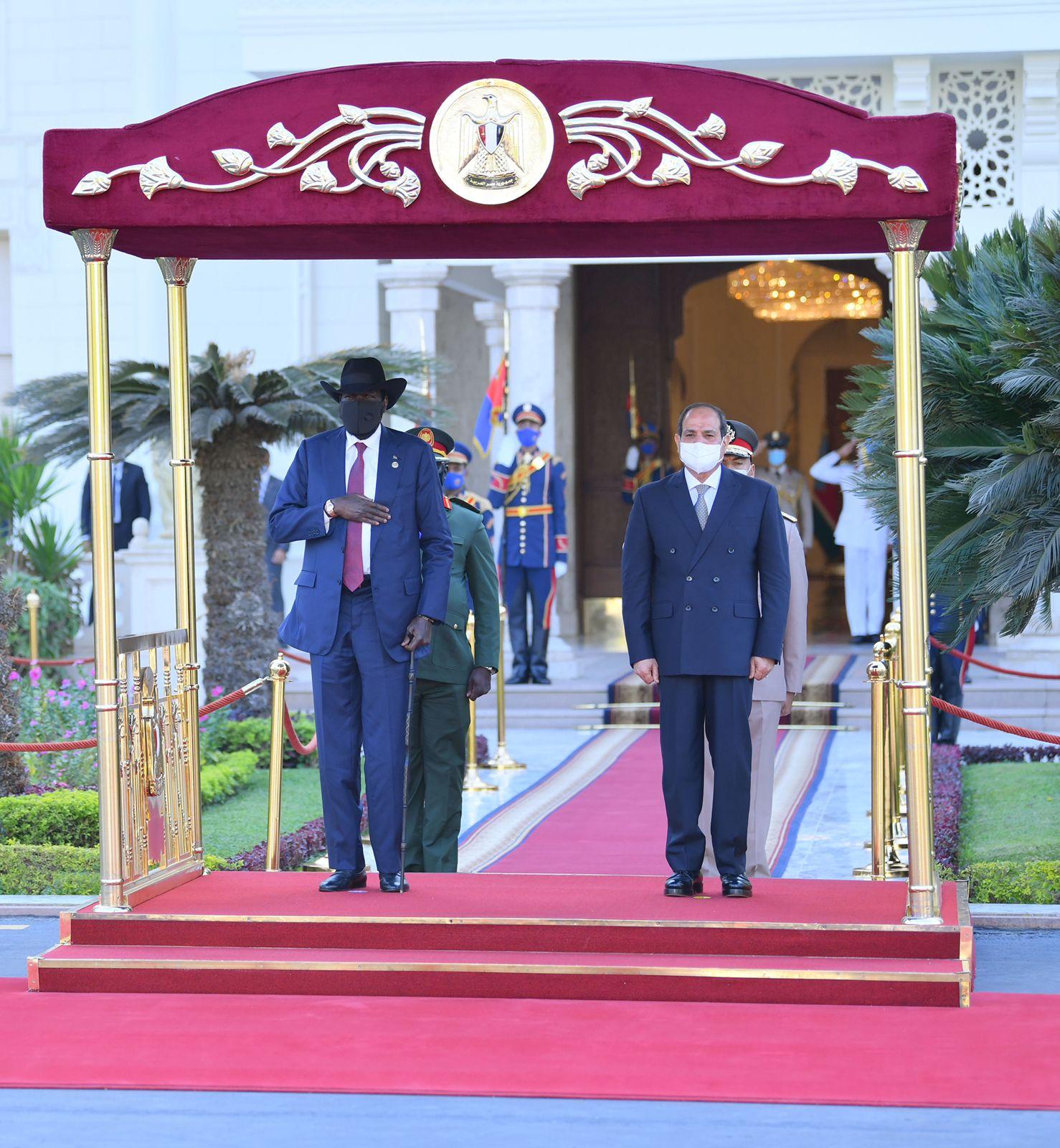 الرئيس السيسى يستقبل نظيره رئيس جنوب السودان  (4)