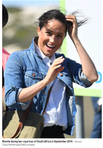 Meghan Markle in a casual look