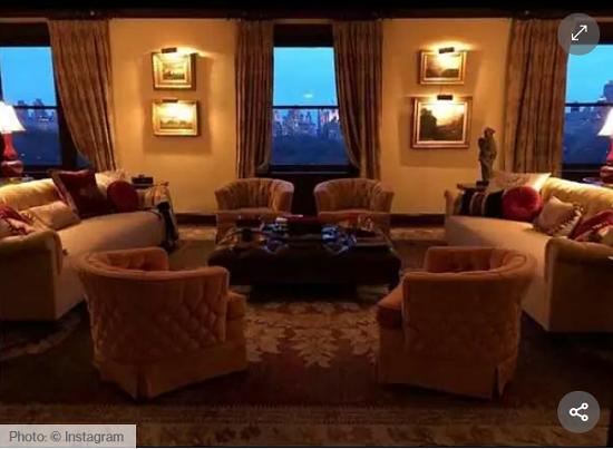 Catherine Zeta-Jones living room