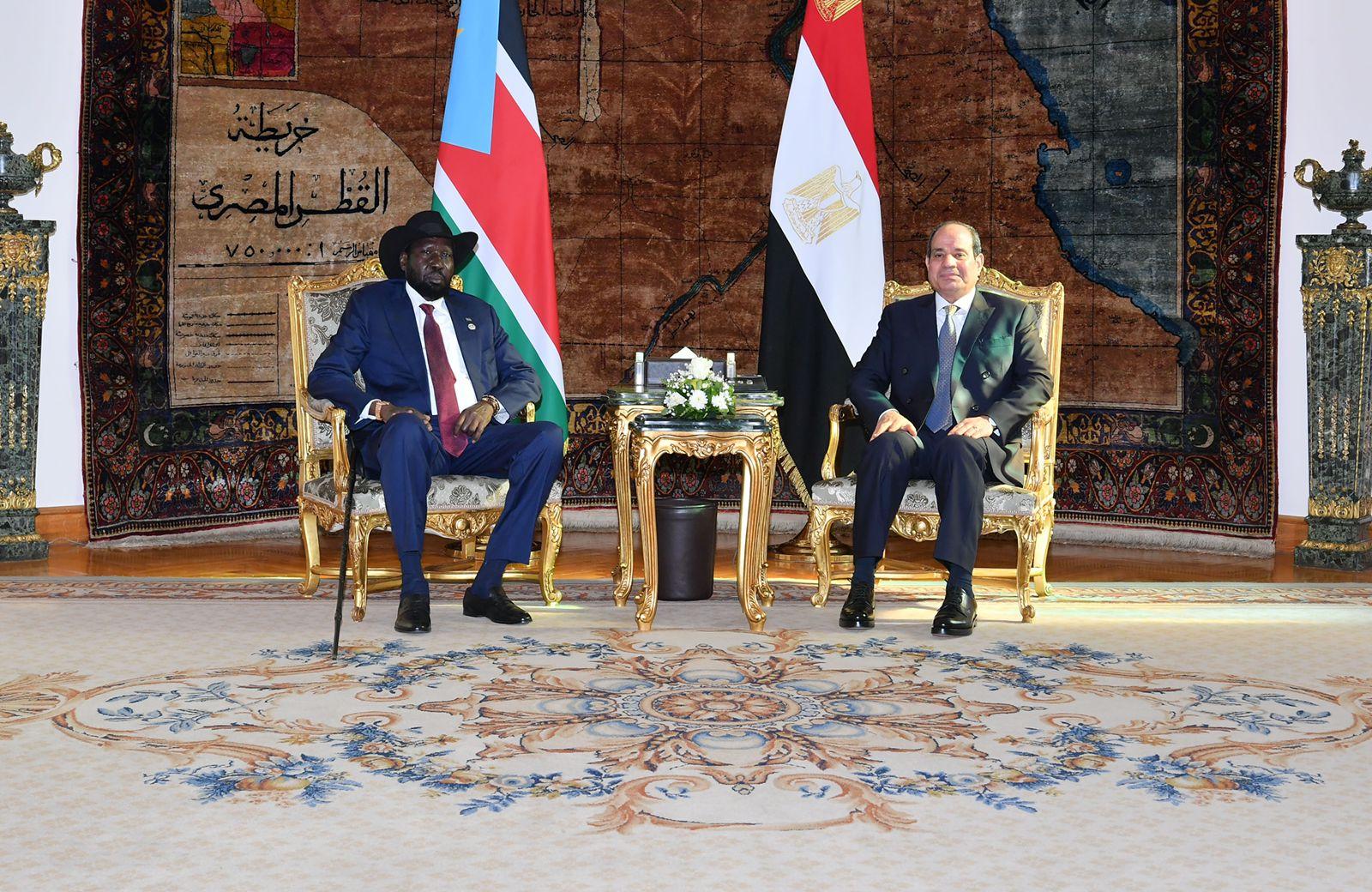 الرئيس السيسى يستقبل نظيره رئيس جنوب السودان  (7)