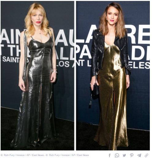 Courtney Love and Jessica Alba