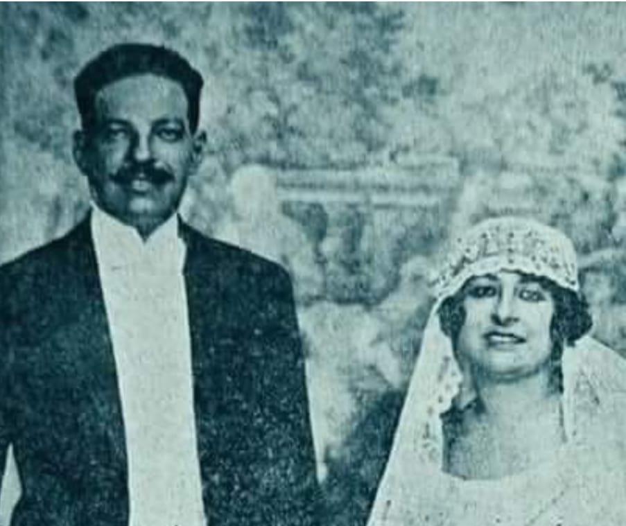 زفاف نجيب الريحاني وبديعة مصابنى