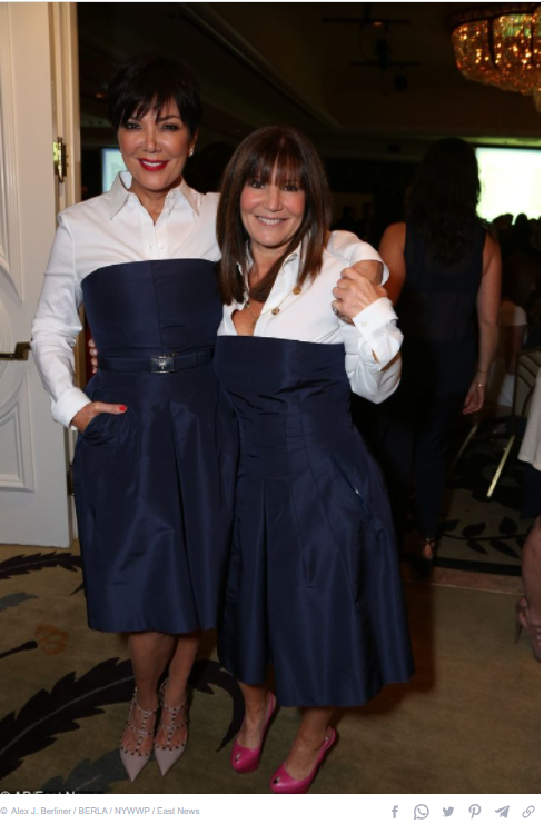 Kris Jenner and Shelley Osef
