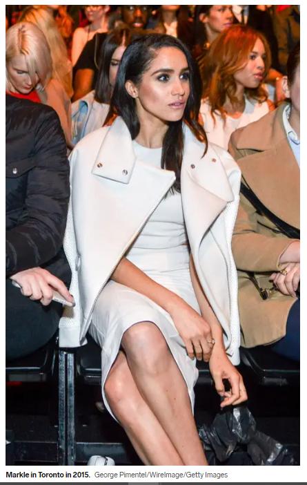 Megan in a monochrome look
