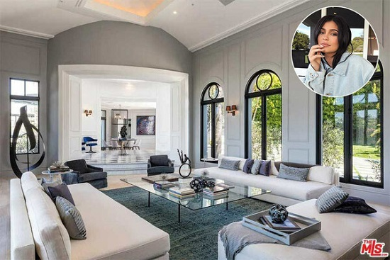 Kylie Jenner's living room Photo courtesy of Zoopla
