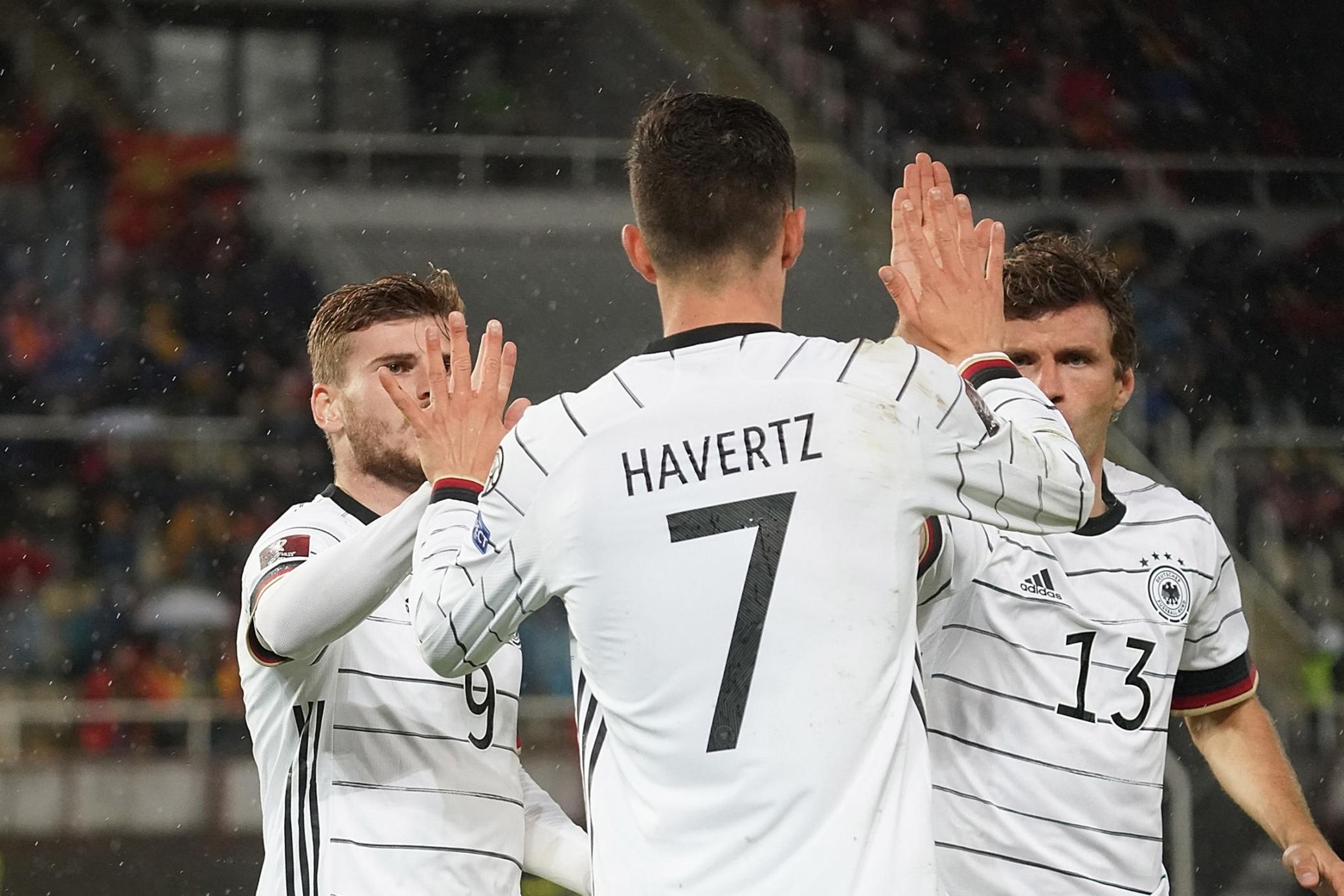 احتفال لاعبى ألمانيا