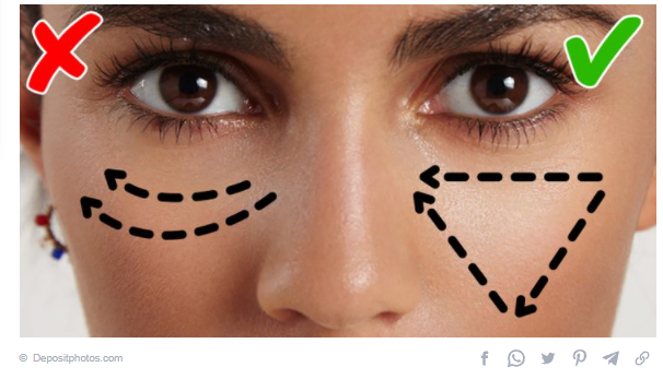 Use the concealer correctly