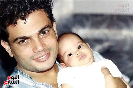عمرو دياب و ابنته