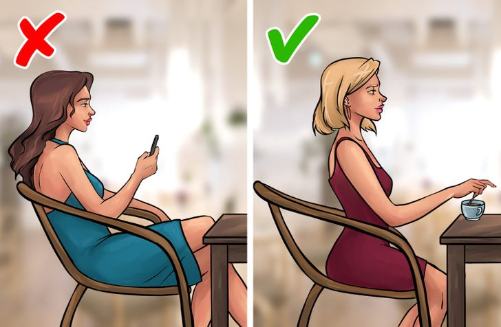 How to sit on the chair