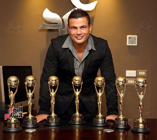 حصل عمرو دياب على 7 جوائز الموسيقى العالمية