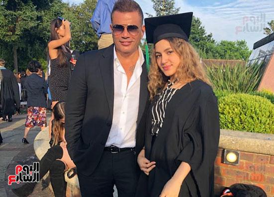عمرو دياب و ابنتة