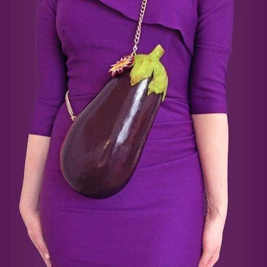 eggplant shaped bag