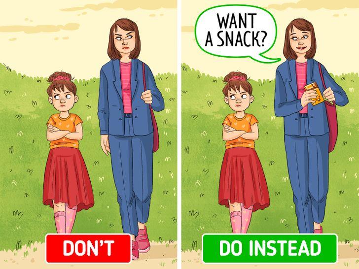Carry snacks