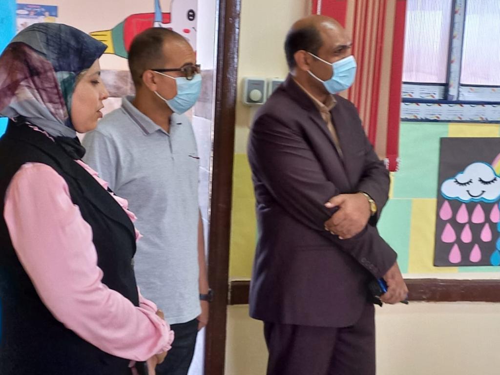رئيس مركز ومدينة بيلا يتفقد المدرسة المصرية اليابانية بقرية إبشان (9)