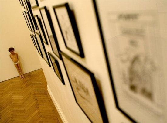 عمل للفنان الاسترالي رون مويك بعنوان بينوكيو
