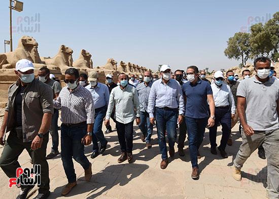 جولة رئيس الوزراء بالأقصر لتفقد المشروعات السياحية