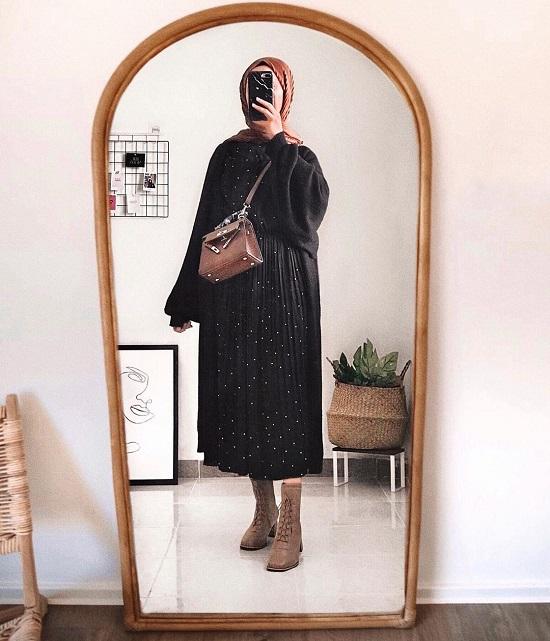 أفكار لتنسيق ملابس التريكو مع الحجاب (23)