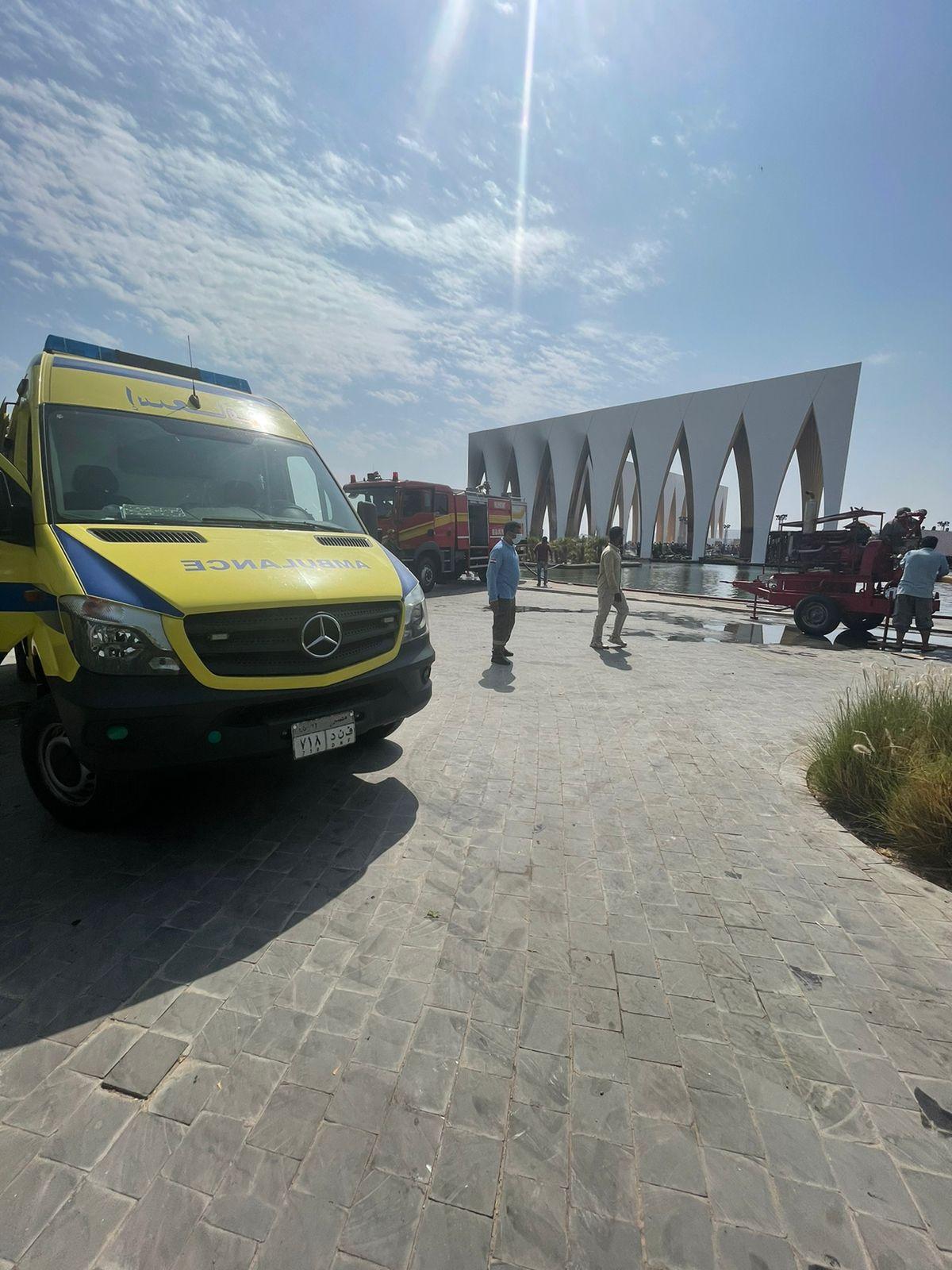 إصابة 14 مواطنا باختناقات فى حريق محدود بإحدى قاعات مهرجان الجونة