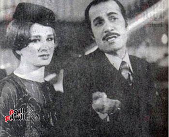 محمود ياسين و نجلاء فتحى