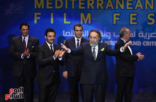 محمود ياسين فى افتتاح مهرجان الاسكندرية