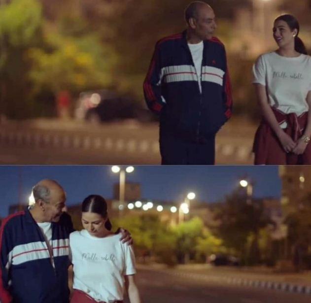احمد بدير مع هنادي مهنا