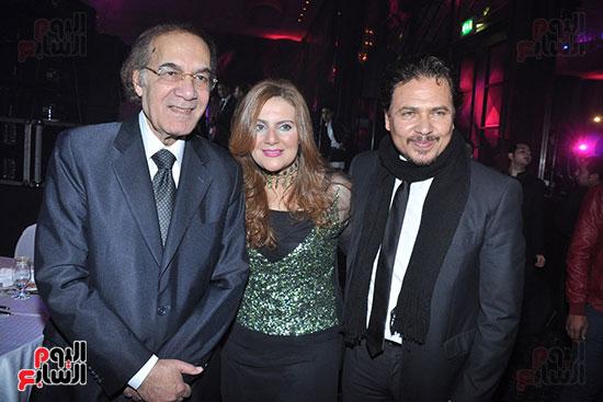 محمود ياسين و ابنتة رانيا و زوجها محمد رياض