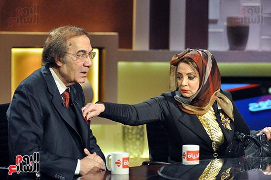 محمود ياسين و زوجتة شهيرة فى احد البرامج